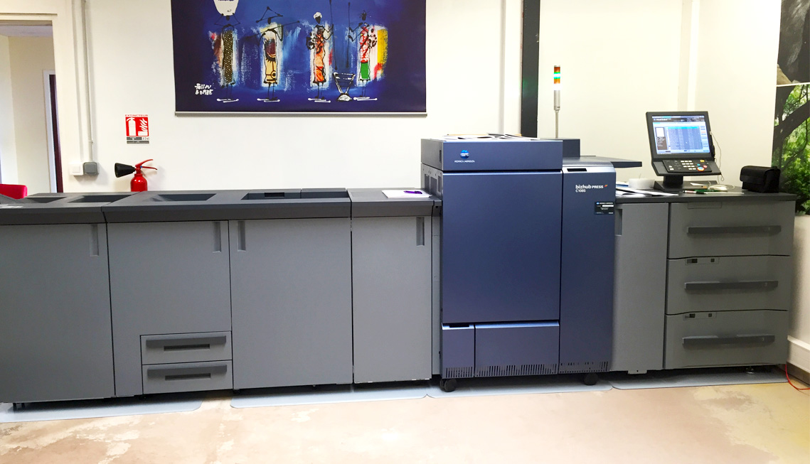 Module de finition et presse numérique Konica Minolta C10-85